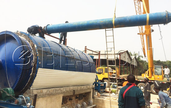 Beston waste plastic recycling plant installed in Nigeria