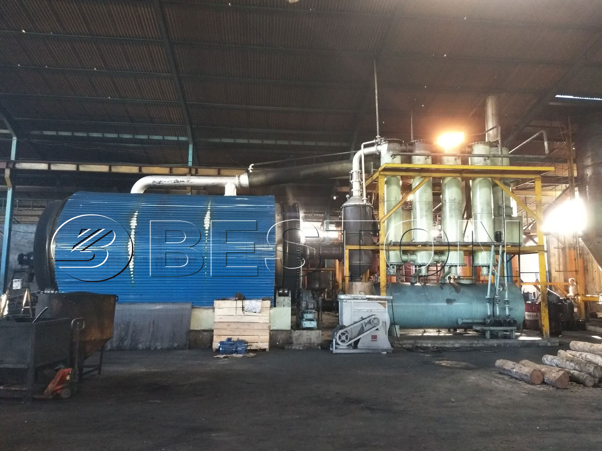 Tyre pyrolysis machine in Indonesia